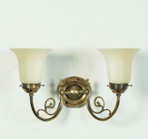 Bayswater Solid Brass 2 Light Wall Light