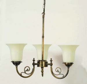 Bayswater Solid Brass 3 Light Pendant