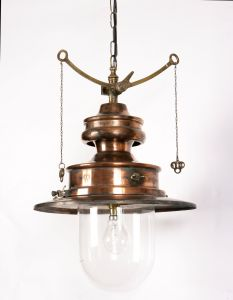 Paddington Solid Copper and Brass 1 Light Pendant