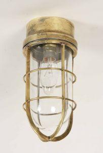 Wheelhouse Solid Brass 1 Light Flush Exterior Lamp
