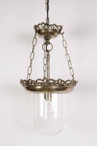 Small Storm Solid Brass 1 Light Pendant