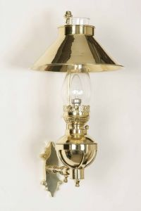 Captains Solid Brass 1 Light Wall Light