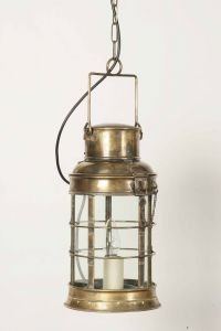 Watchman's Solid Brass 1 Light Lantern