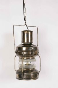 Large Anchor Solid Brass 1 Light Lantern