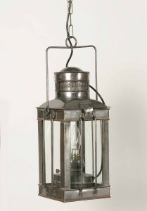 Large Cargo Solid Brass 1 Light Lantern