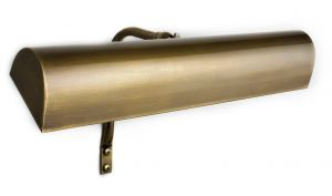 Oxford Solid Brass Frame Mounted Picture Light, Antique Brass