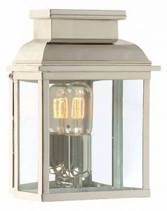 EC4 Solid Brass Outdoor Wall Lantern, Nickel