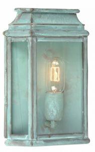 WC2 Solid Brass Outdoor Wall Lantern, Verdigris
