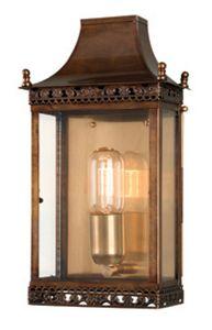 Regents Park Solid Brass Outdoor Lantern, Antique Brass