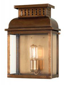 W1 Outdoor Lantern, Antique Brass