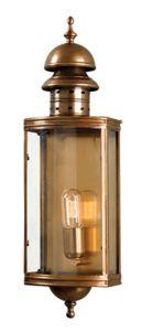 SW1 Solid Brass Outdoor Lantern, Antique Brass