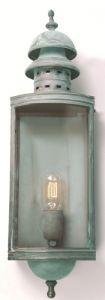 SW1 Solid Brass Outdoor Lantern, Verdigris