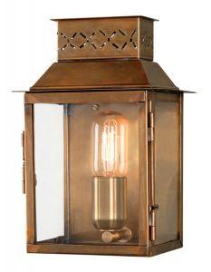 SE1 Outdoor Wall Lantern, Antique Brass