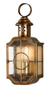 Kennington Solid Brass Outdoor Lantern, Antique Brass