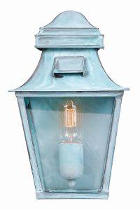 St Pauls Hand Made Outdoor Lantern, Verdidris