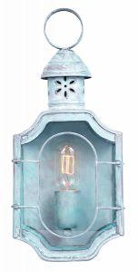The Oval Solid Brass Outdoor Lantern, Verdigris