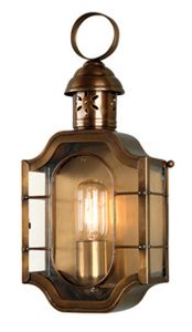 The Oval Solid Brass Outdoor Lantern, Antique Brass