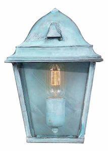SW1-2 Solid Brass Outdoor Lantern, Verdigris
