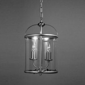 Orly 2 Light  Nickel Hanging Ceiling Lantern