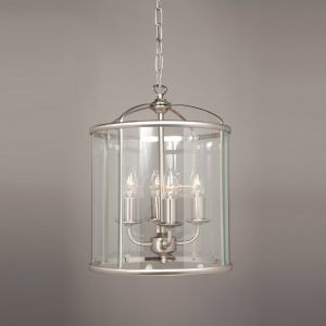 Orly 4 Light Hanging Ceiling Lantern - Satin Nickel