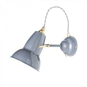 Anglepoise Original 1227 BRASS Wall Lamp in Elephant Grey