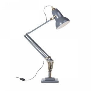 Anglepoise Original 1227 Brass Desk Lamp in Elephant Grey