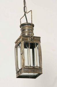 Small Cargo Solid Brass 1 Light Lantern