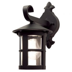 Traditional Black Iron Exterior Hanging Wall Lantern
