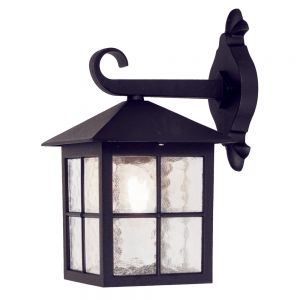 Traditional Black Iron Square Exterior Hanging Wall Lantern