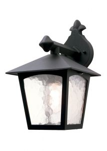 Traditional Square Black Exterior Hanging Wall Lantern