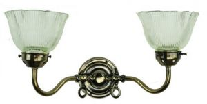 Small Swan Solid Brass 2 Light Wall Light