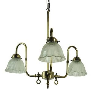Large Swan Solid Brass 3 Light Pendant