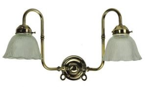 Large Swan Solid Brass 2 Light Wall Light