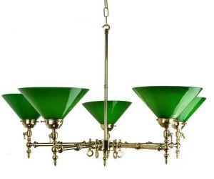 Aldwich Solid Brass 5 Light Pendant