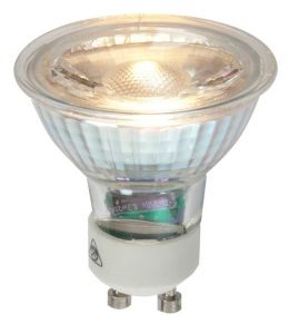 Vision High Quality 3.5 watt LED GU10 warm White, Glass Body