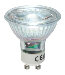 Vision High Quality 3.5 watt LED GU10 COB White, Glass Body
