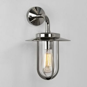 Montparnasse 0484 Nickel Outdoor Wall Light, IP44