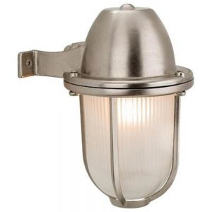 Outdoor Mast Wall Light Nickel Finish