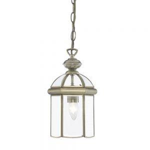 Chester 1 Light Ceiling Pendant Lantern Light In Antique Brass