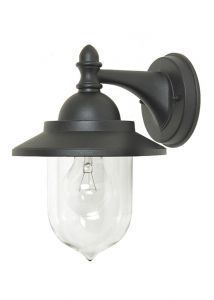 Kelso 1 Light Wall Lantern Light For Outdoor Use In Black With Clear Acrylic