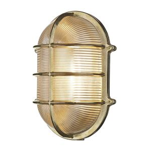 Lymington Brass Outdoor Nautical Bulkhead Wall Light IP64