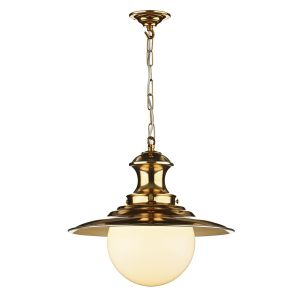 Traditional Copper Station Lamp Ceiling Pendant Light