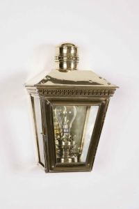 Buckingham Solid Brass Exterior 1 Light Wall Lantern
