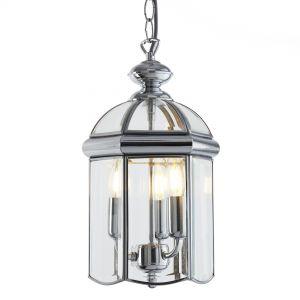 Chester 3 Light Ceiling Pendant Lantern Light In Chrome