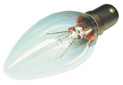 Clear 25watt Small Bayonet cap 35mm Candle Lamp
