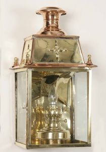 Warwick Solid Brass 1 Light Wall Lantern