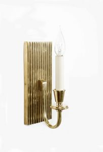 Ridgeback Solid Brass 1 Light Wall Light
