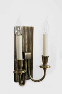 Ridgeback Solid Brass 2 Light Wall Light