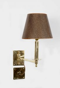 Study Swing Arm Solid Brass 1 Light Wall Light