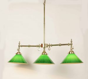 Aldwich Solid Brass 3 Arm Down Facing Ceiling Light